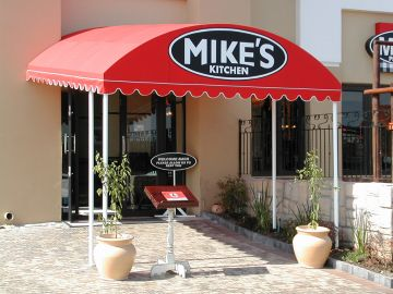 FIXED AWNINGS - TUNNEL AWNING