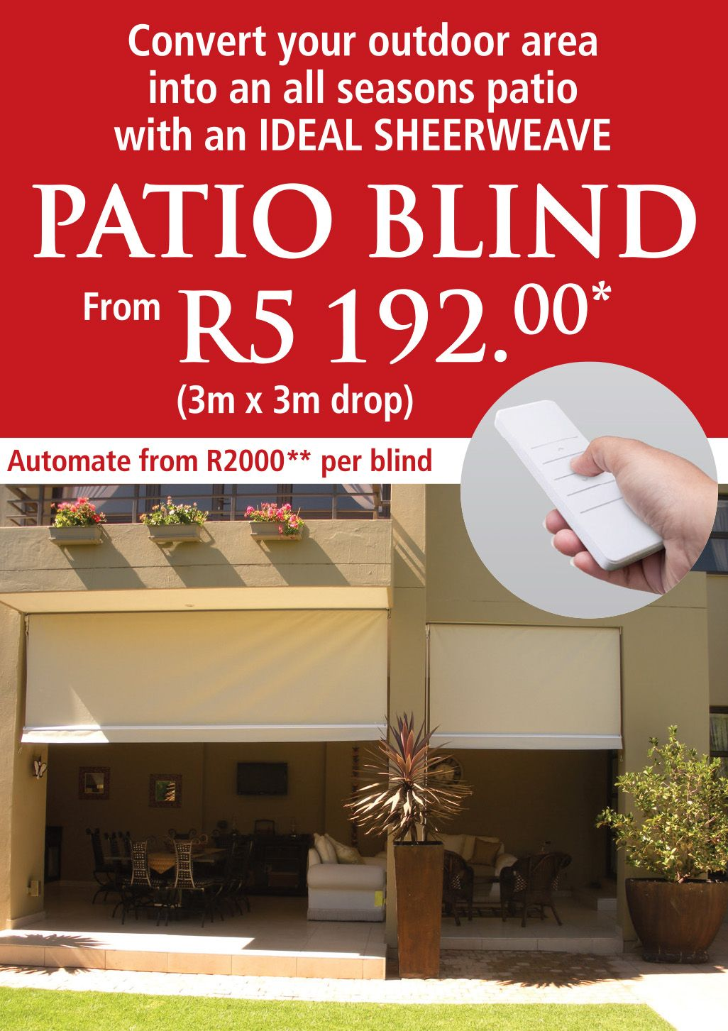 Ideal Patio Blind Promo April2019 Img01